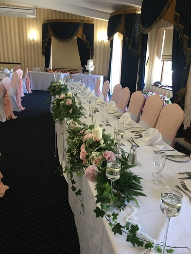 Top Table Decor, Flowers and Floating Candles - Wedding Venue Styling- Sophia's Final Touch
