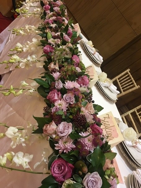Top Table Fresh Floral Piece - Wedding Venue Styling- Sophia's Final Touch
