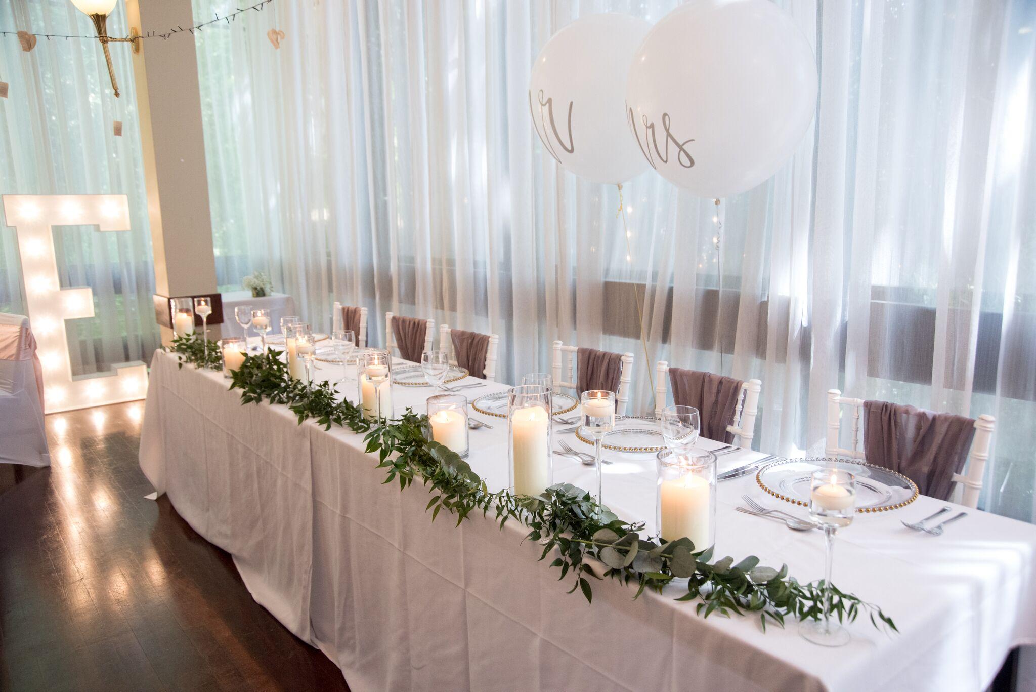 White Chiavari Chairs with mauve Chiffon Drop Sash Sophia's Final Touch - Venue Styling - Weddings