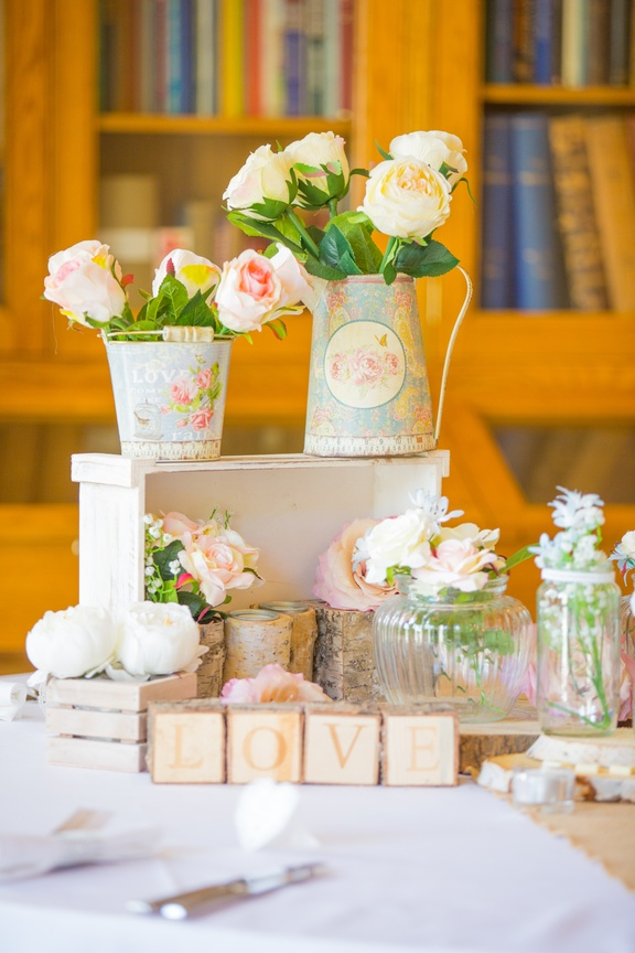 Vintage Jugs with Flowers – Wedding Venue Styling- Sophia's Final Touch- Wedding & Event Decoration