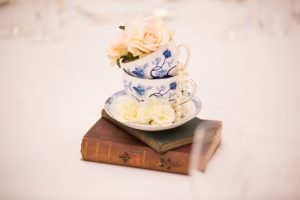 Vintage Tea Cups with Flowers, wedding styling, sophia's final touch
