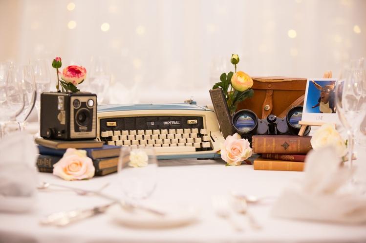 Vintage Travel Arrangement – Wedding Venue Styling- Sophia's Final Touch- Wedding & Event Decoration