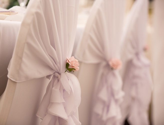 White Ruffle Hoods On Lycra Chair Covers  - Sophia's Final Touch - Venue Styling - Weddings & Event Decoration