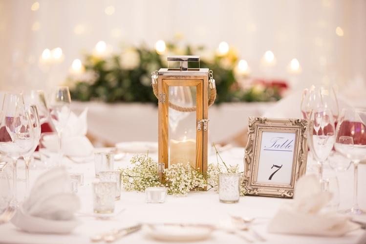 Wooden Lantern with Gypsophila– Wedding Venue Styling- Sophia's Final Touch- Wedding & Event Decoration