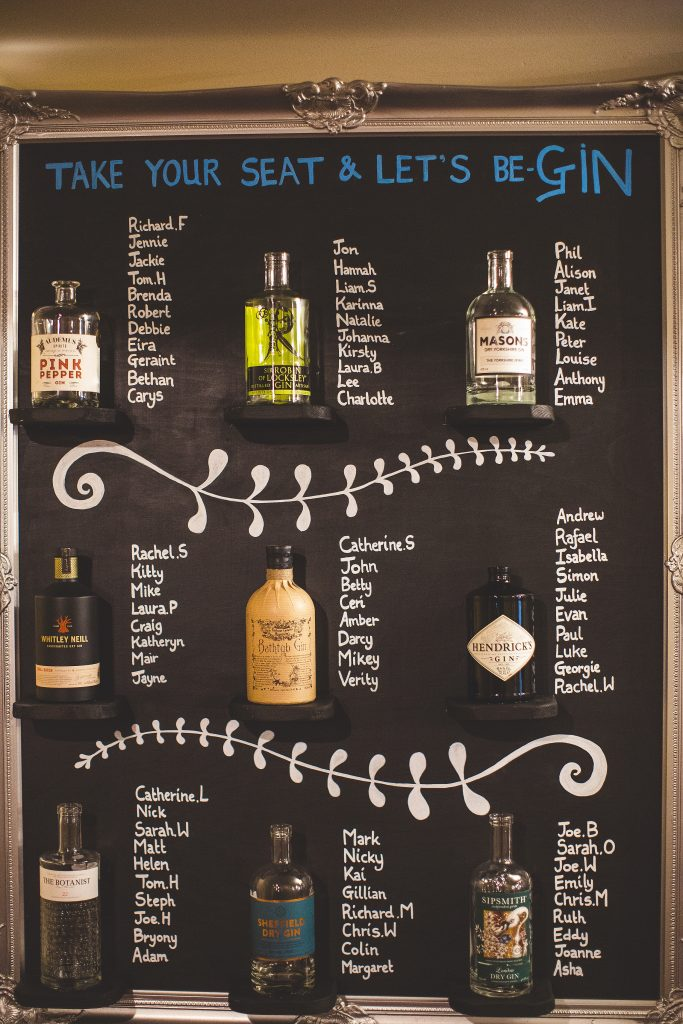 Gin Themed Table Plan!