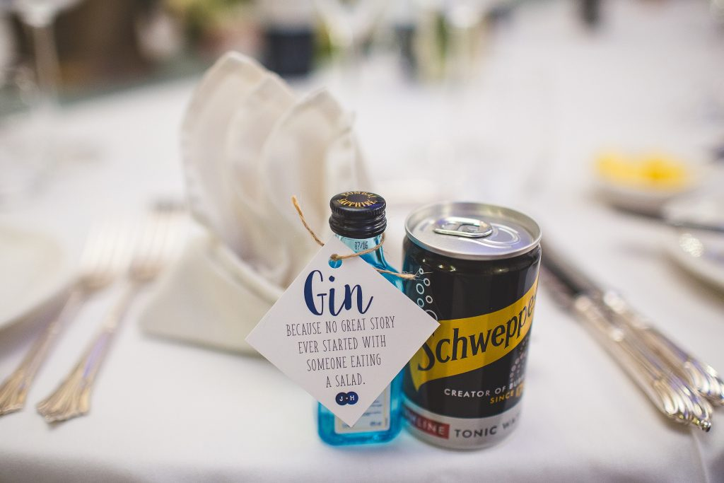 Wedding Favours - Miniature Alcohol - Gin
