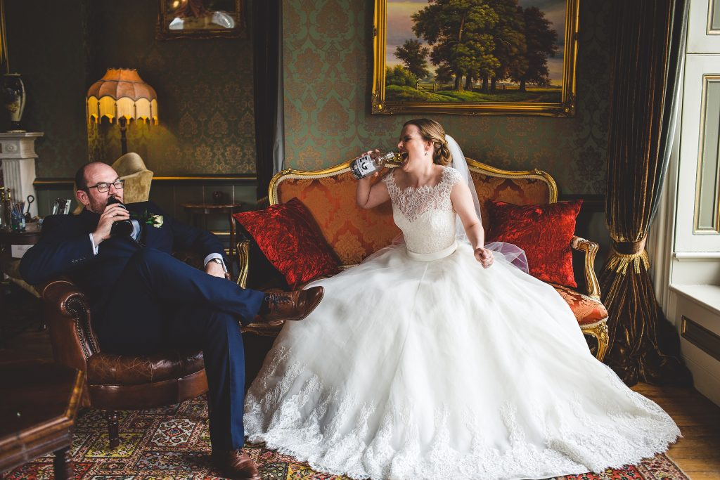 The Lovely Couple Celebrating- Gin Themed Wedding