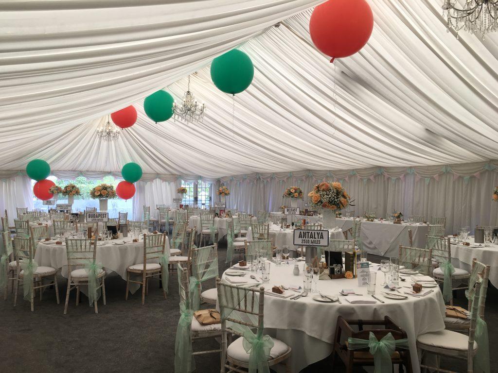 Travel Themed Wedding - Woodlands Hotel