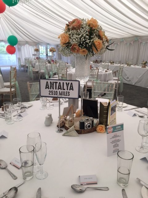 Bespoke Travel Themed Centrepiece  - Sophia's Final Touch - Venue Styling - Weddings & Event Decoration