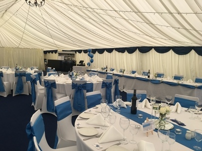 Wedding Breakfast at Leeds University Marquee Marquee - Wedding Venue Styling- Sophia's Final Touch