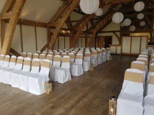 Wedding Ceremony - White Paper Lanterns - Sandburn Hall - Wedding Venue Styling- Sophia's Final Touch