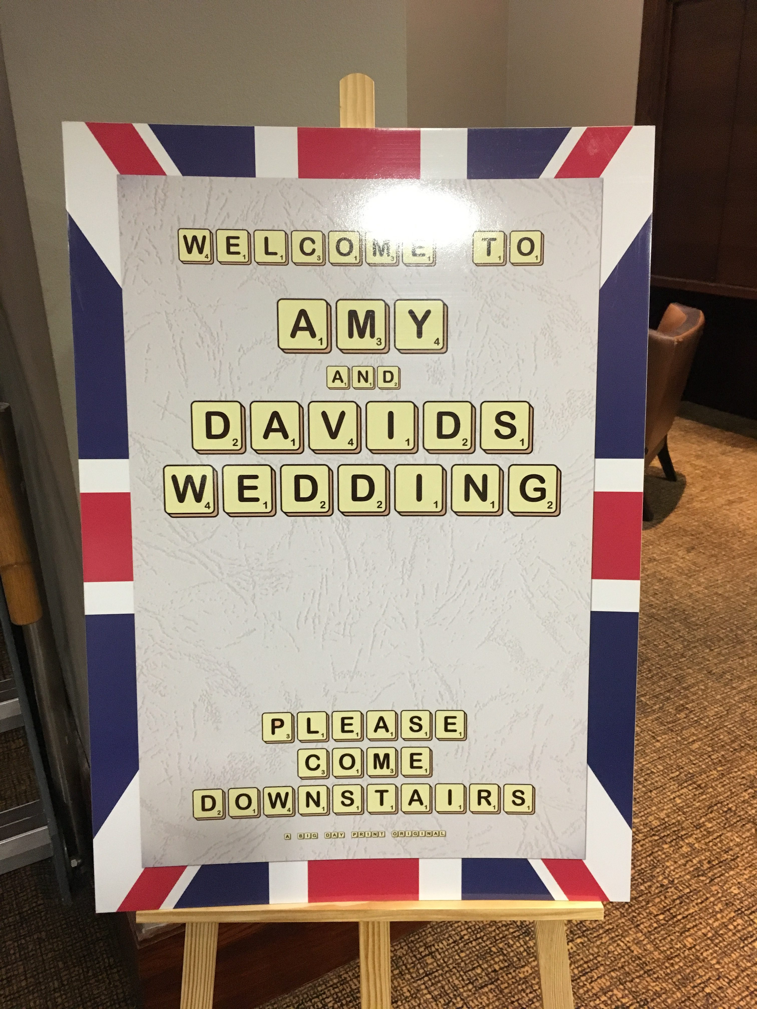 Best Of British Sign Big Day Print Sophia's Final Touch - Venue Styling - Weddings