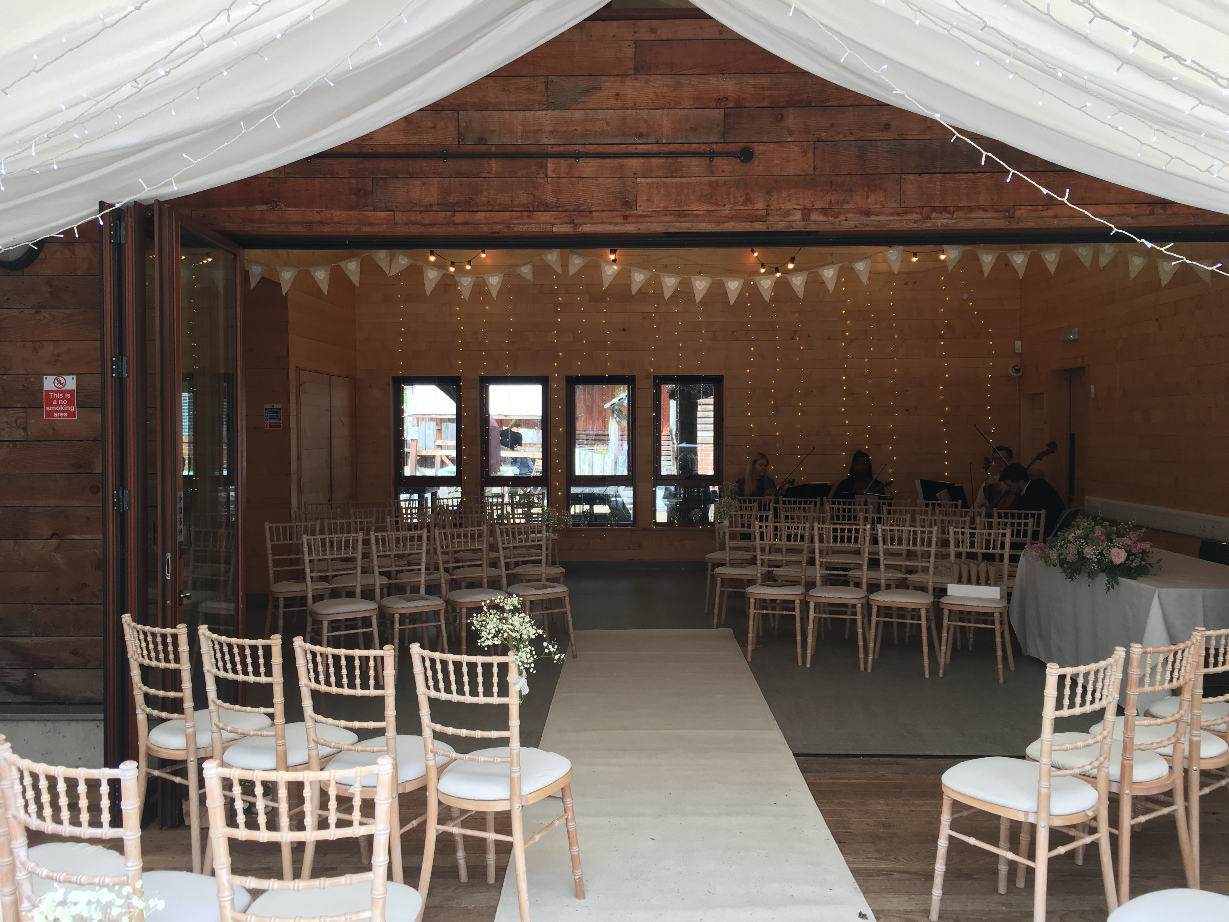 Bunting & Fairy Lights Sophia's Final Touch - Venue Styling - Weddings