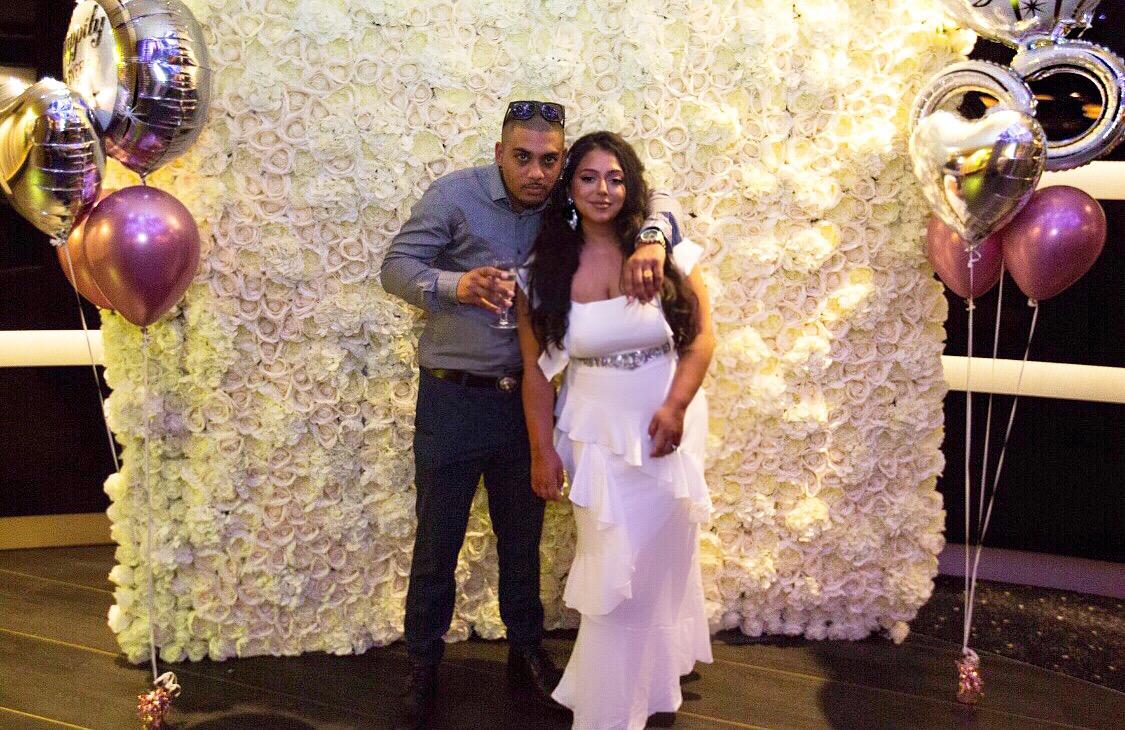 Cream Flower Wall Sophia's Final Touch - Venue Styling - Weddings