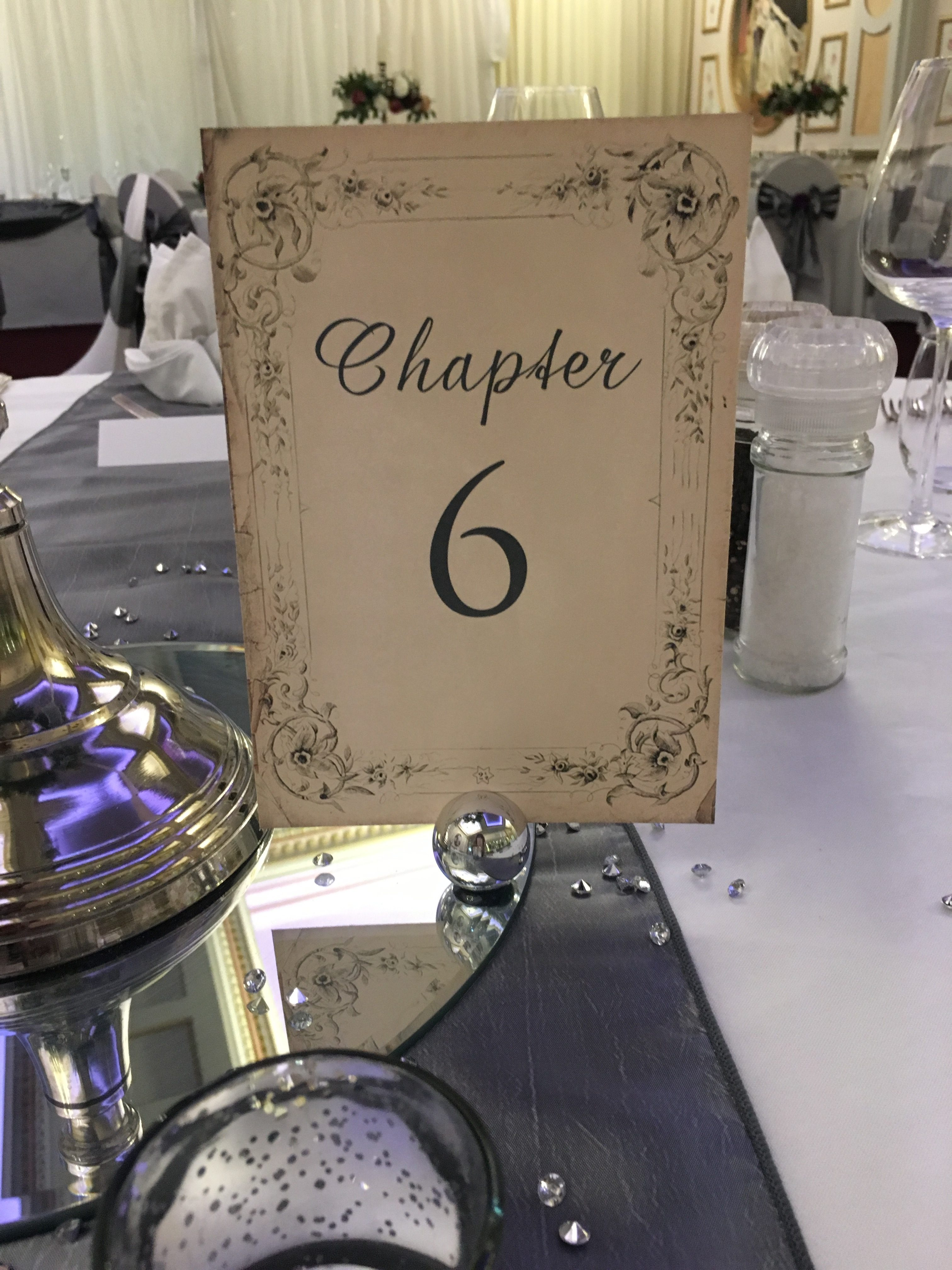 Disney Book Table Numbers Sophia's Final Touch - Venue Styling - Weddings