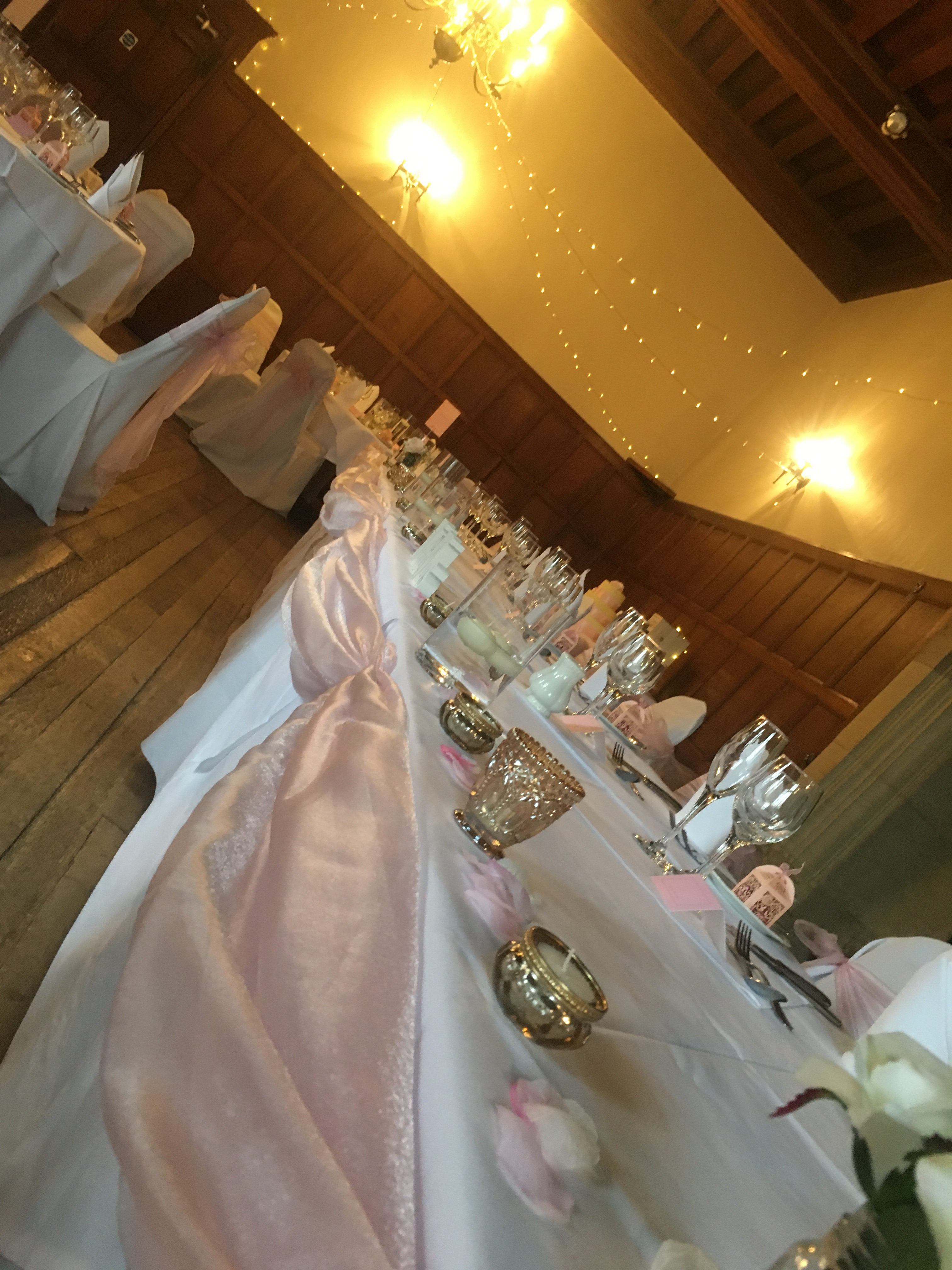 Dusky Pink Top Table Swag Sophia's Final Touch - Venue Styling - Weddings