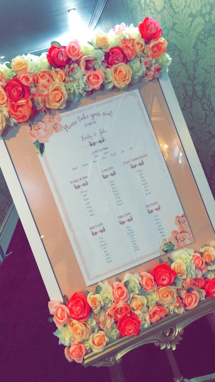 Flower Frame by SFT- Printed Plan by My Little Futures Sophia's Final Touch - Venue Styling - Weddings