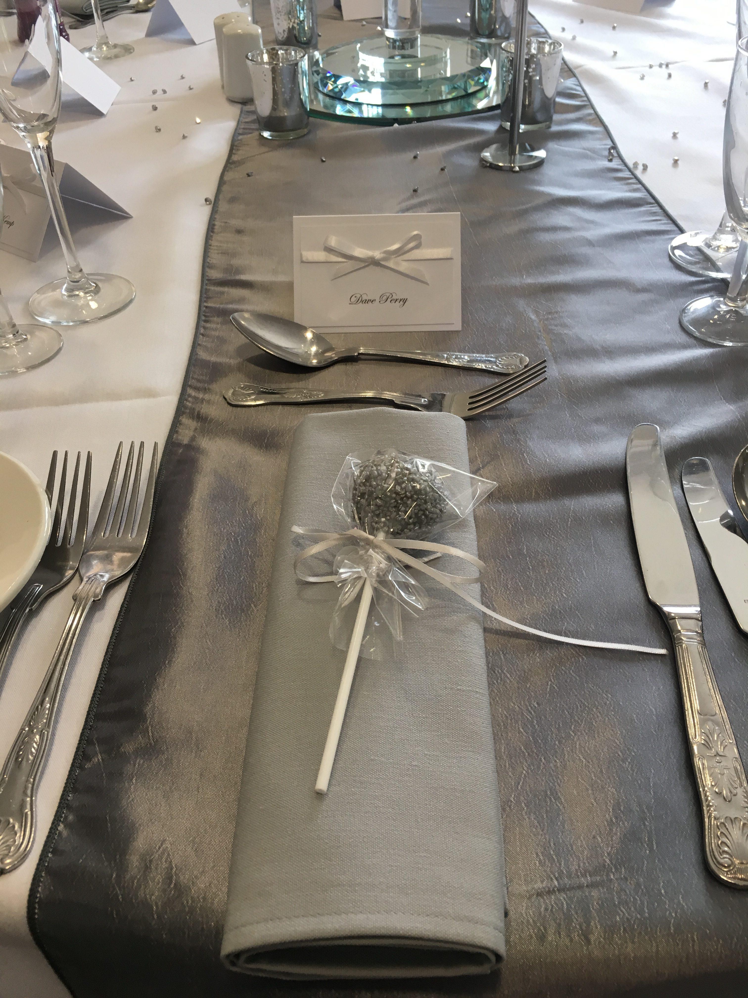 Glitter Silver Cake Pop Favours Sophia's Final Touch - Venue Styling - Weddings