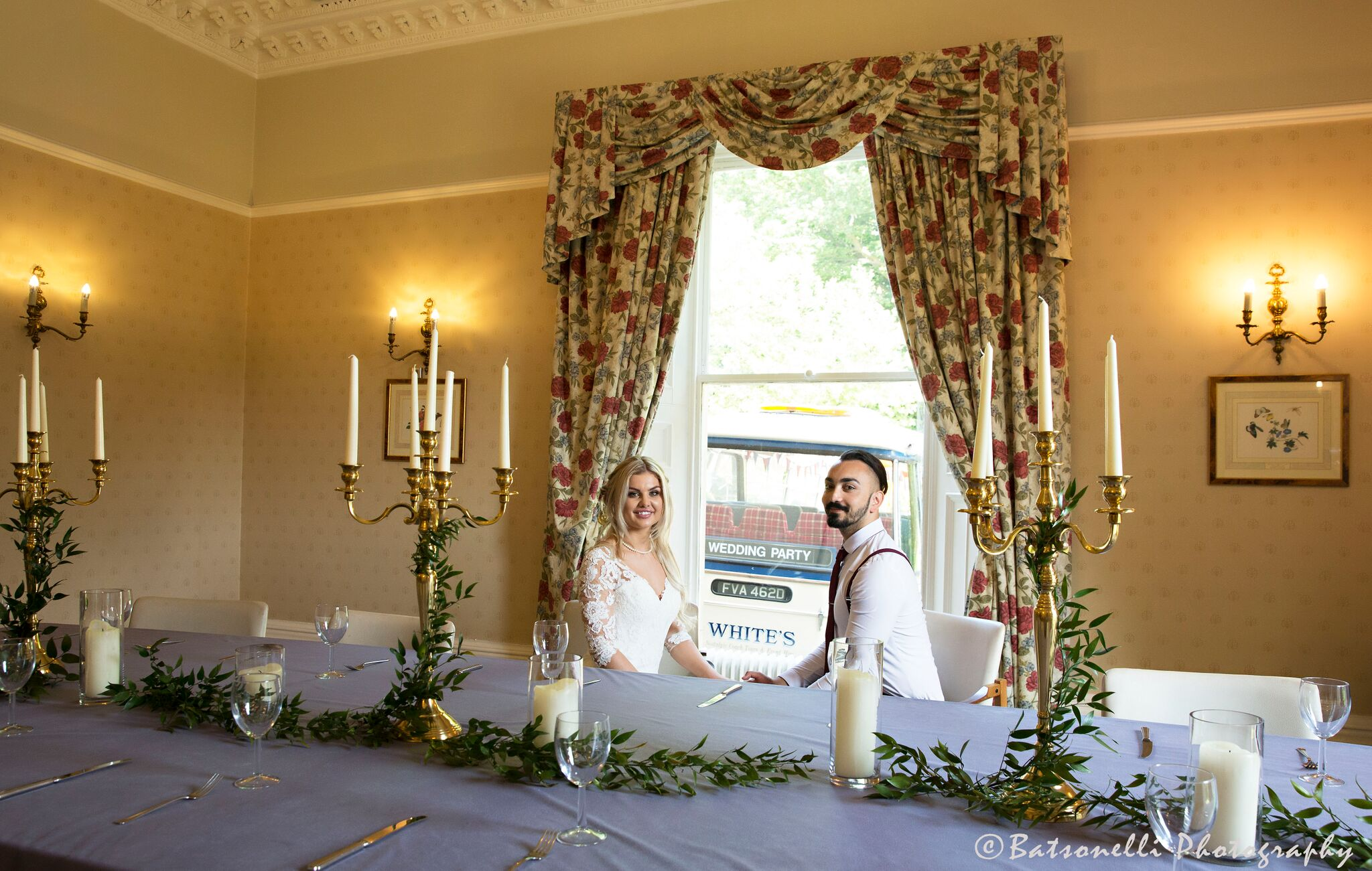 Gold candelabras Photography Gill Baston Sophia's Final Touch - Venue Styling - Weddings