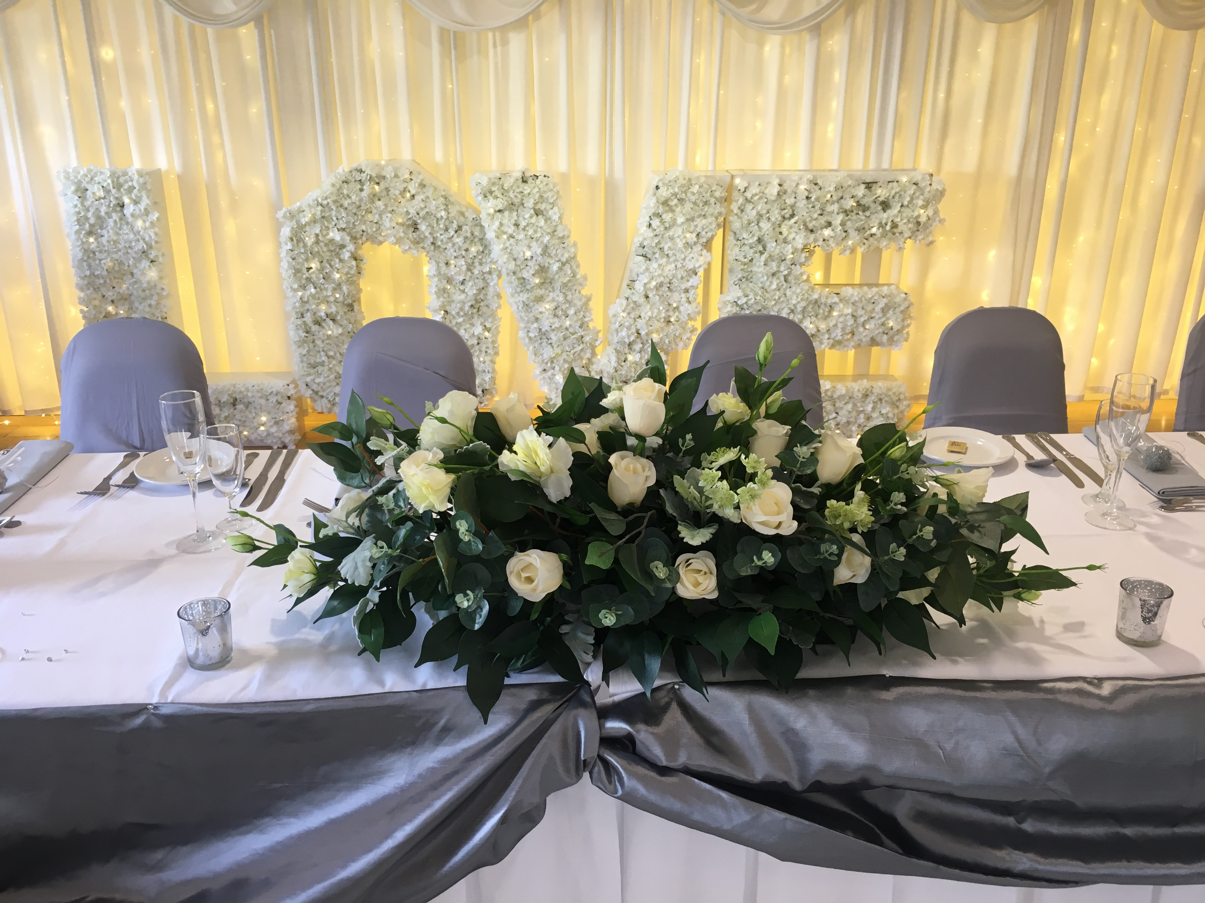 Green Top table Floral Arrangement Sophia's Final Touch - Venue Styling - Weddings
