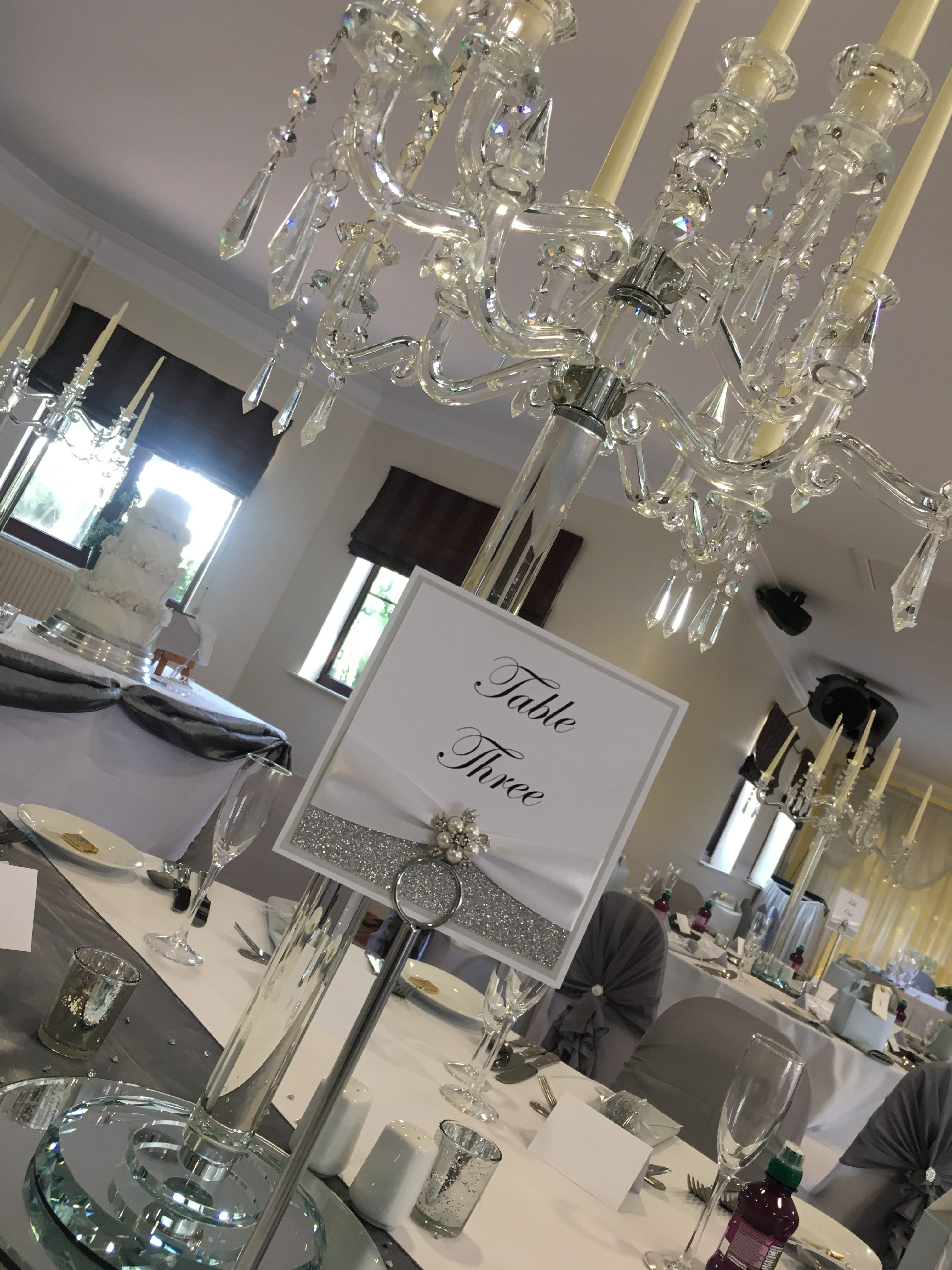 Large Crystal Candelabra - Thornhurst Manor Sophia's Final Touch - Venue Styling - Weddings
