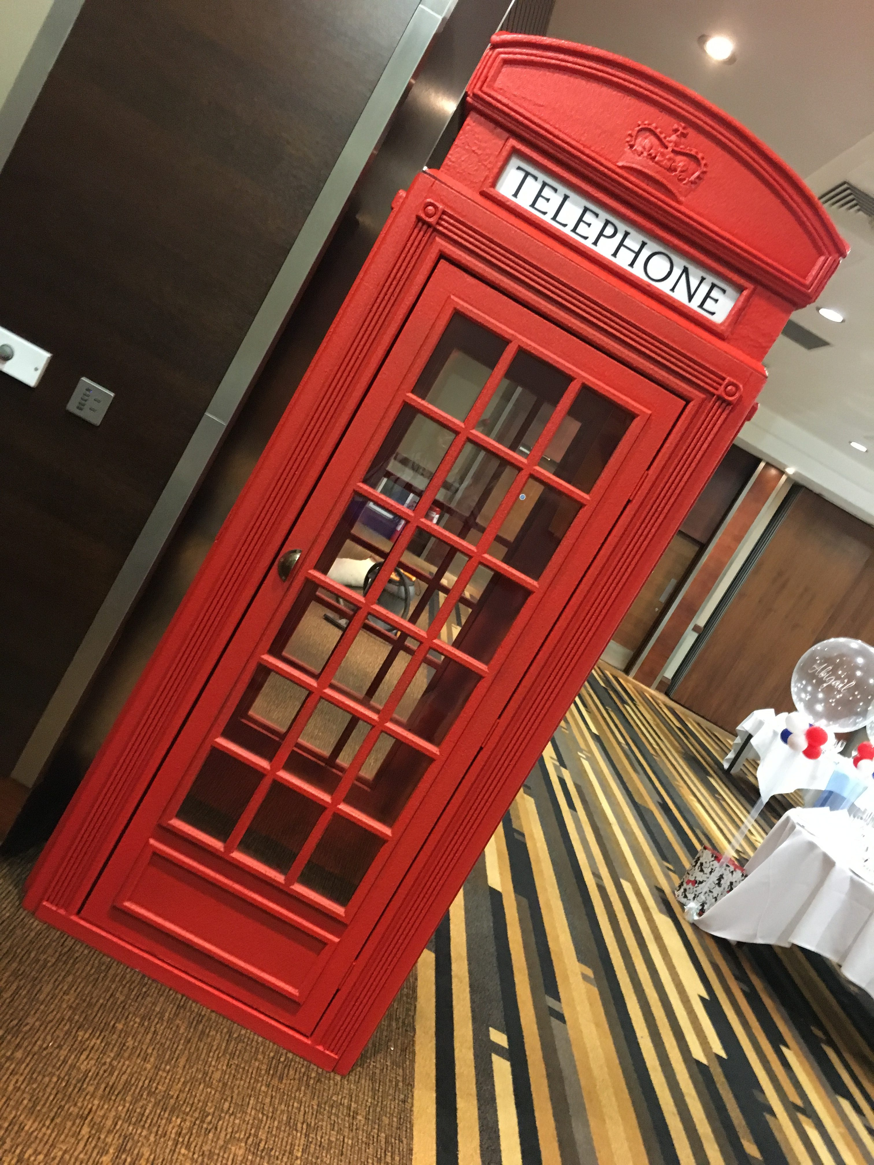 Life size Telephone Box Prop - Best Of British Wedding Sophia's Final Touch - Venue Styling - Weddings