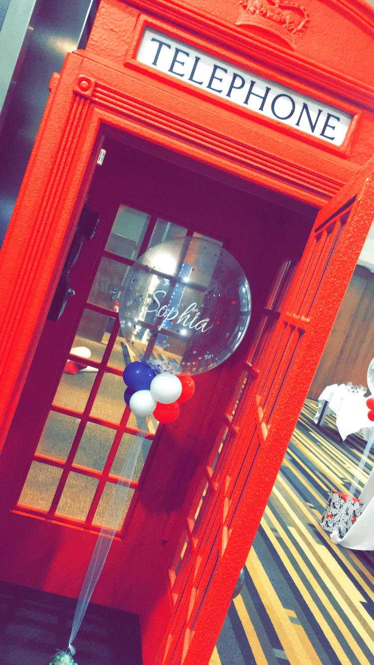Life size Telephone Box Prop Sophia's Final Touch - Venue Styling - Weddings