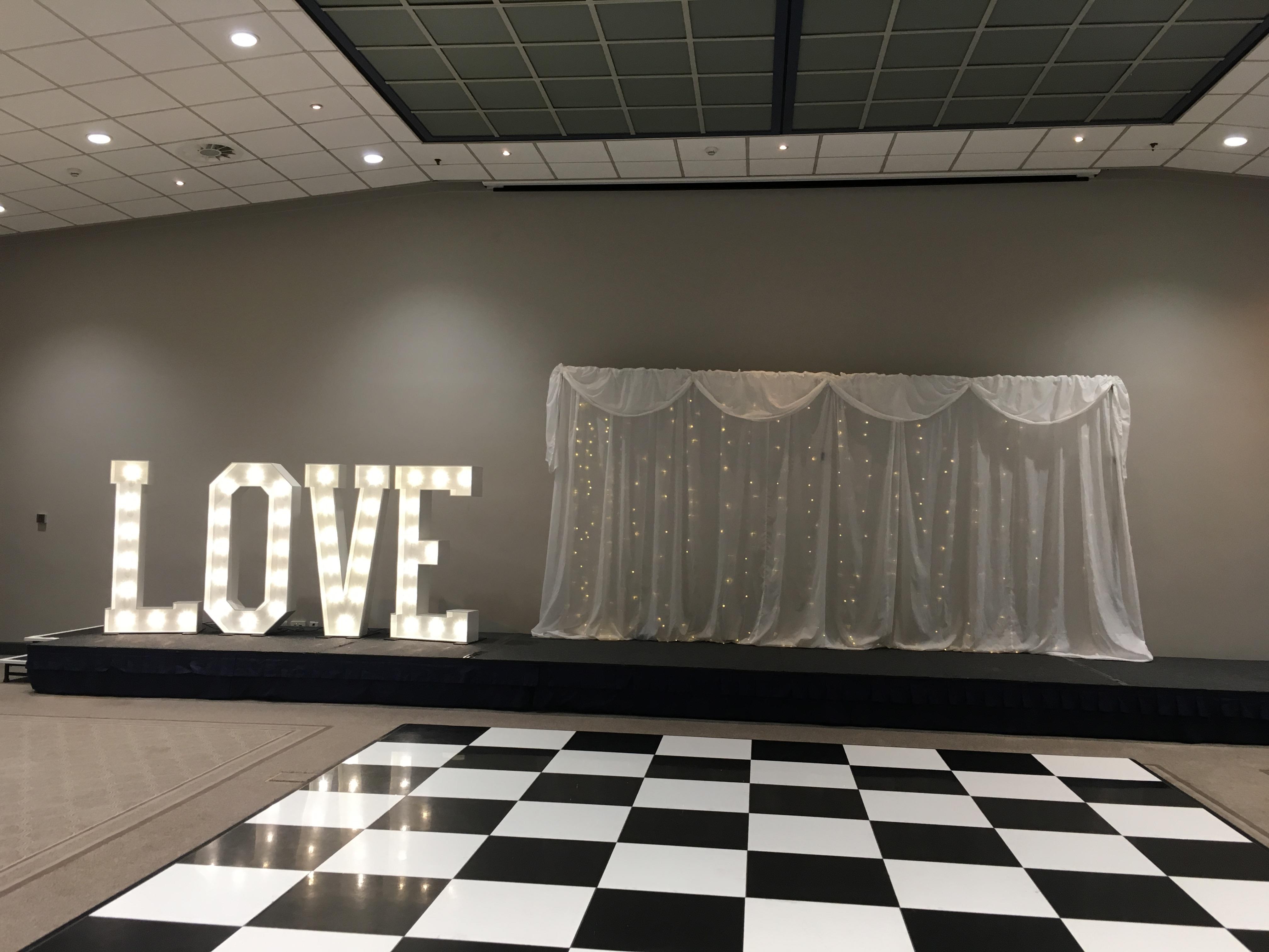 Love & Twinkle Backdrop Sophia's Final Touch - Venue Styling - Weddings