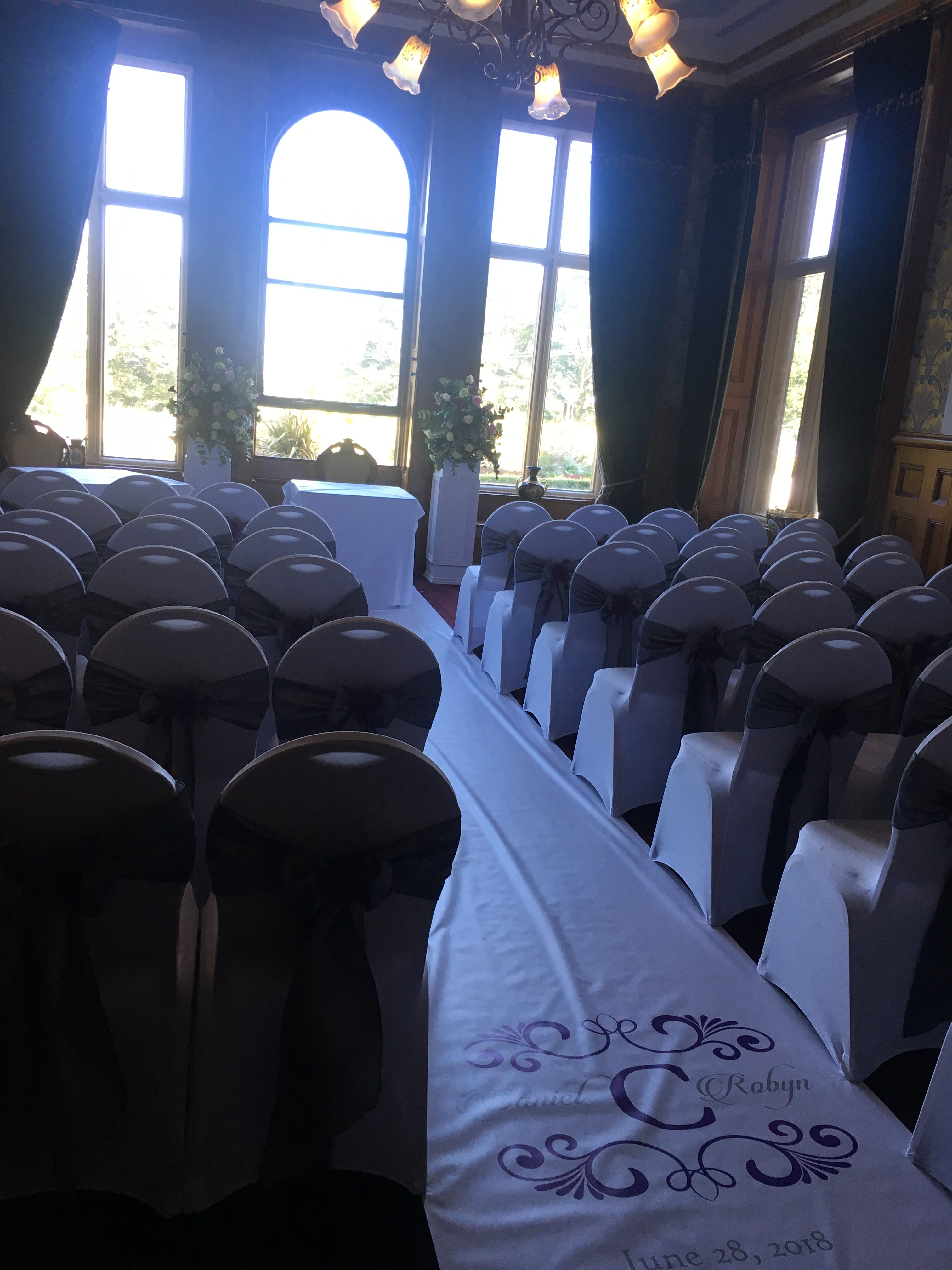 Personalised Aisle at Rossington Hall Sophia's Final Touch - Venue Styling - Weddings