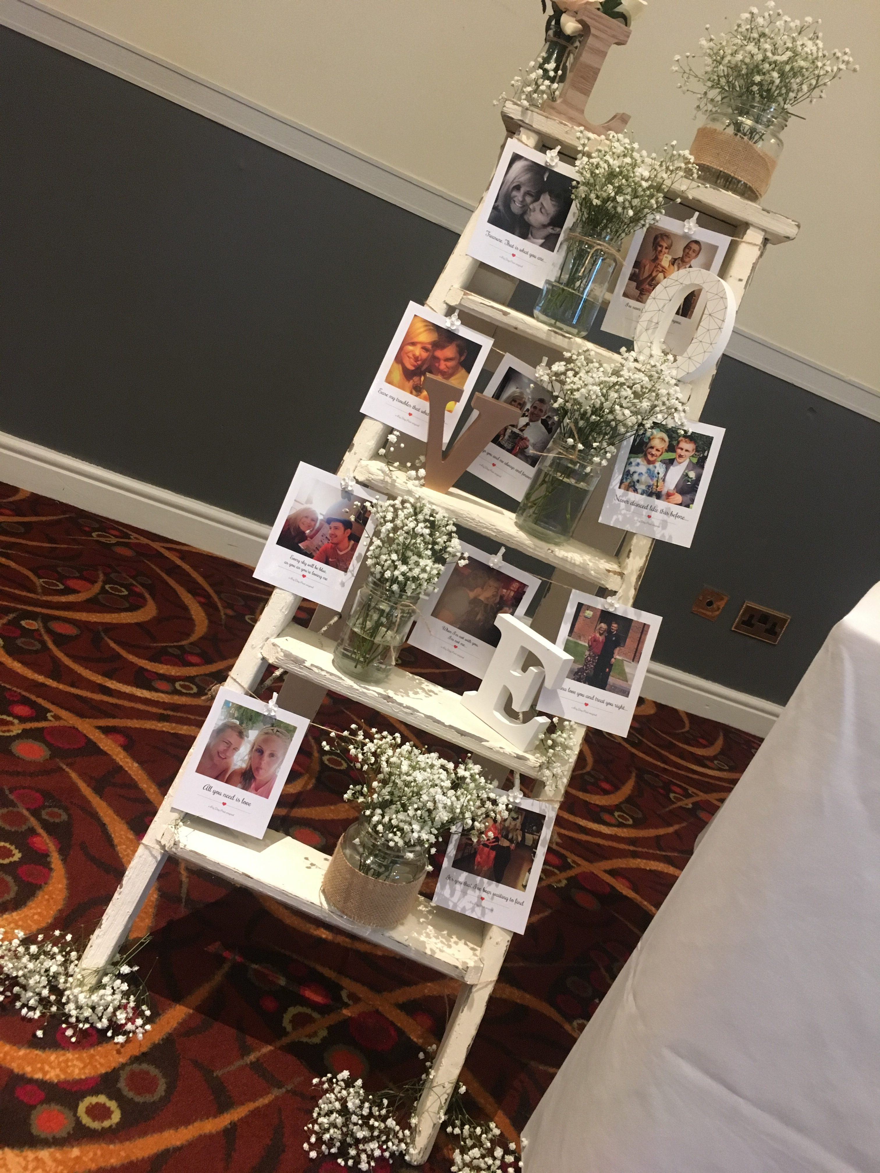 Personalised Picture Ladder Sophia's Final Touch - Venue Styling - Weddings