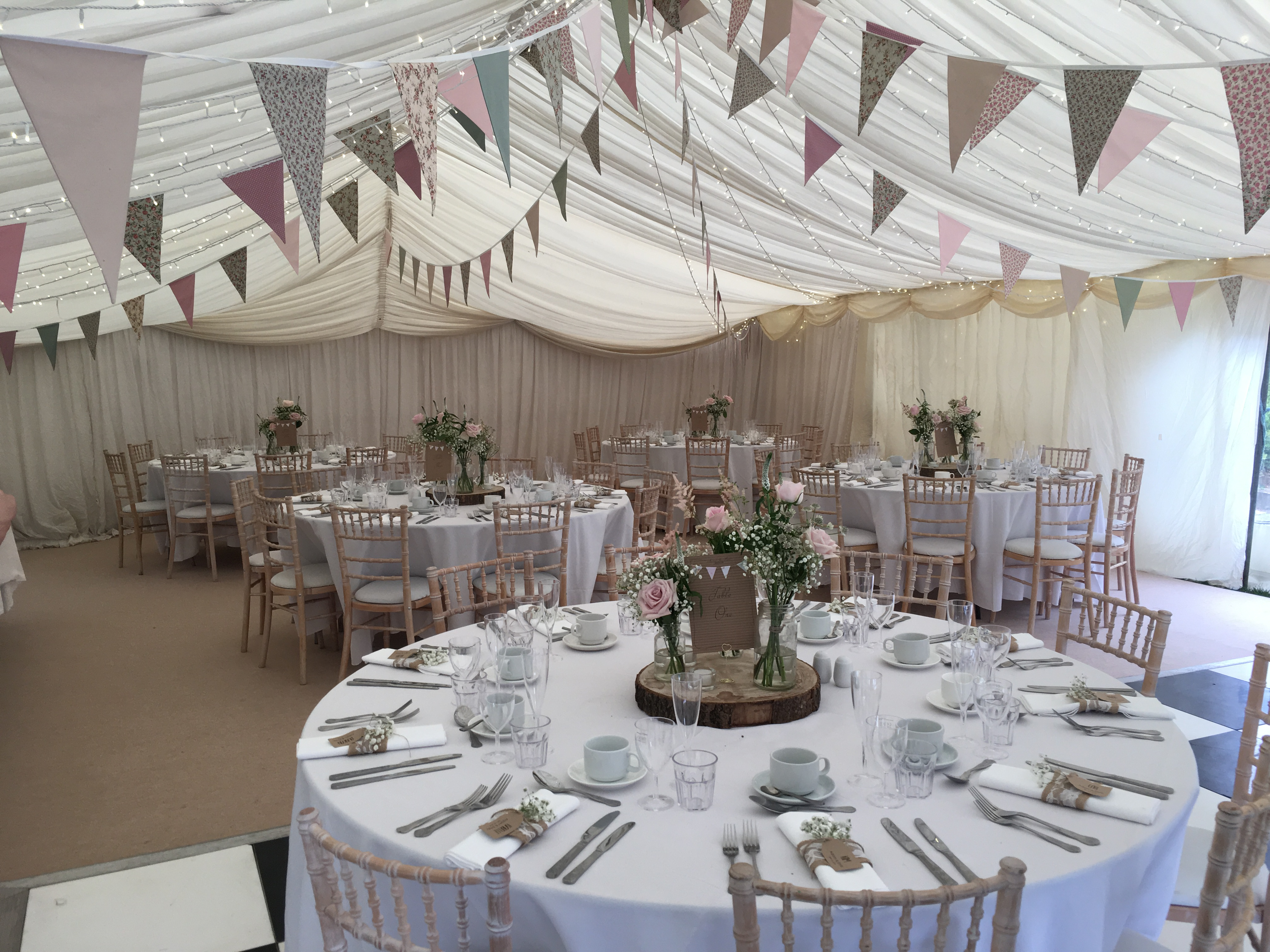 Pink & Green Bunting Sophia's Final Touch - Venue Styling - Weddings