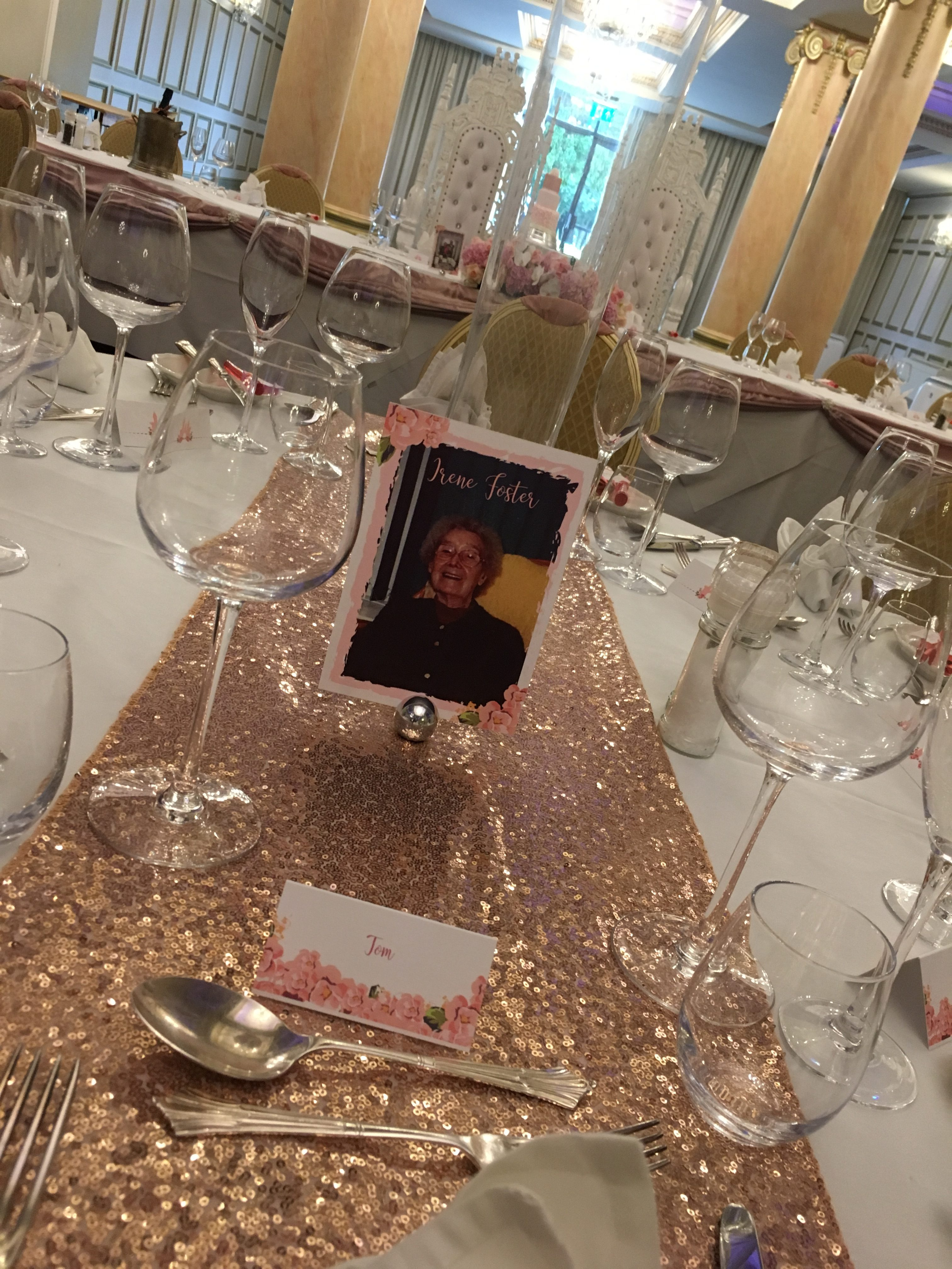 Pink Table Names - My Little Future Sophia's Final Touch - Venue Styling - Weddings