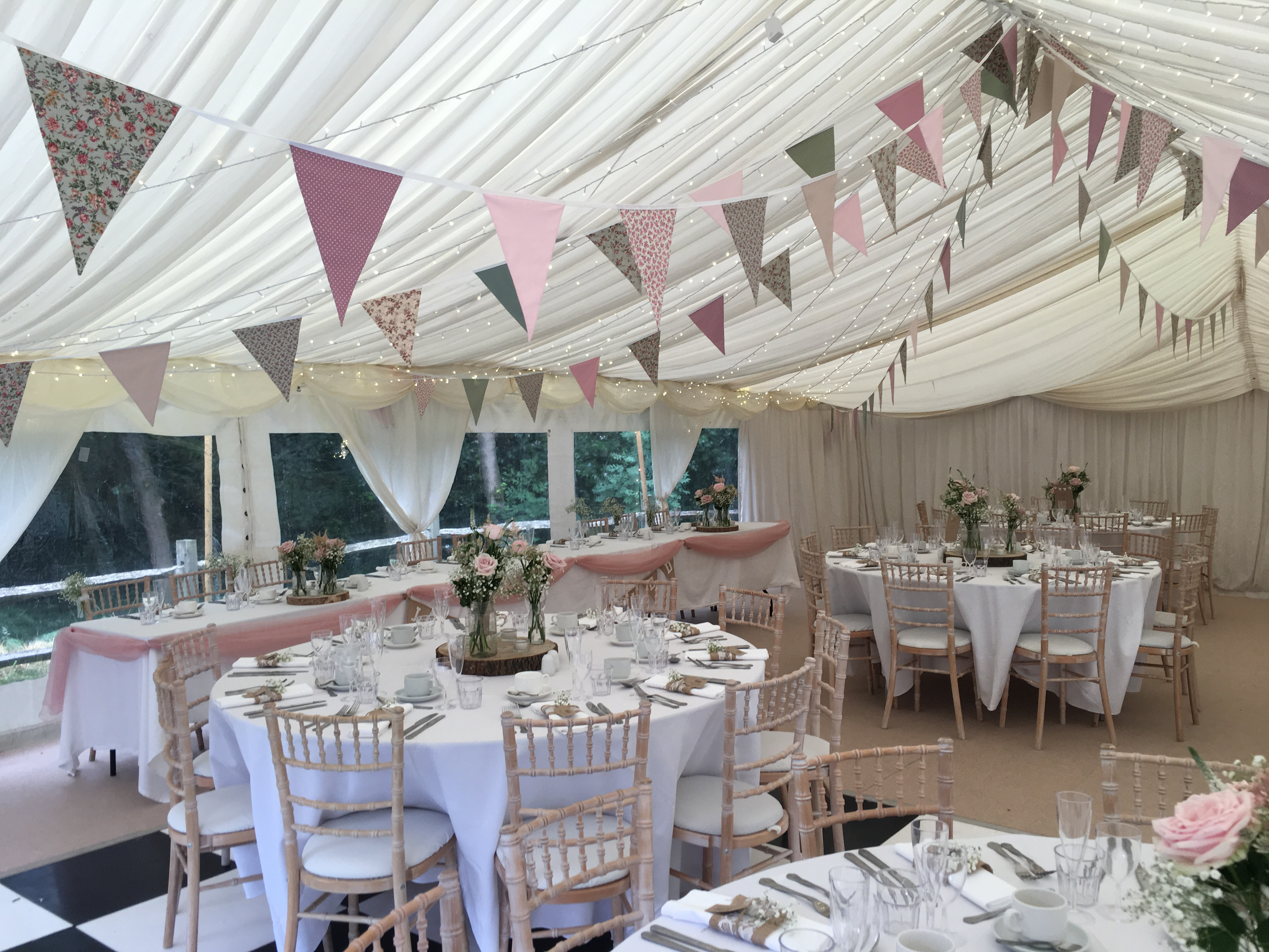 Rustic Pink & Green Bunting Sophia's Final Touch - Venue Styling - Weddings