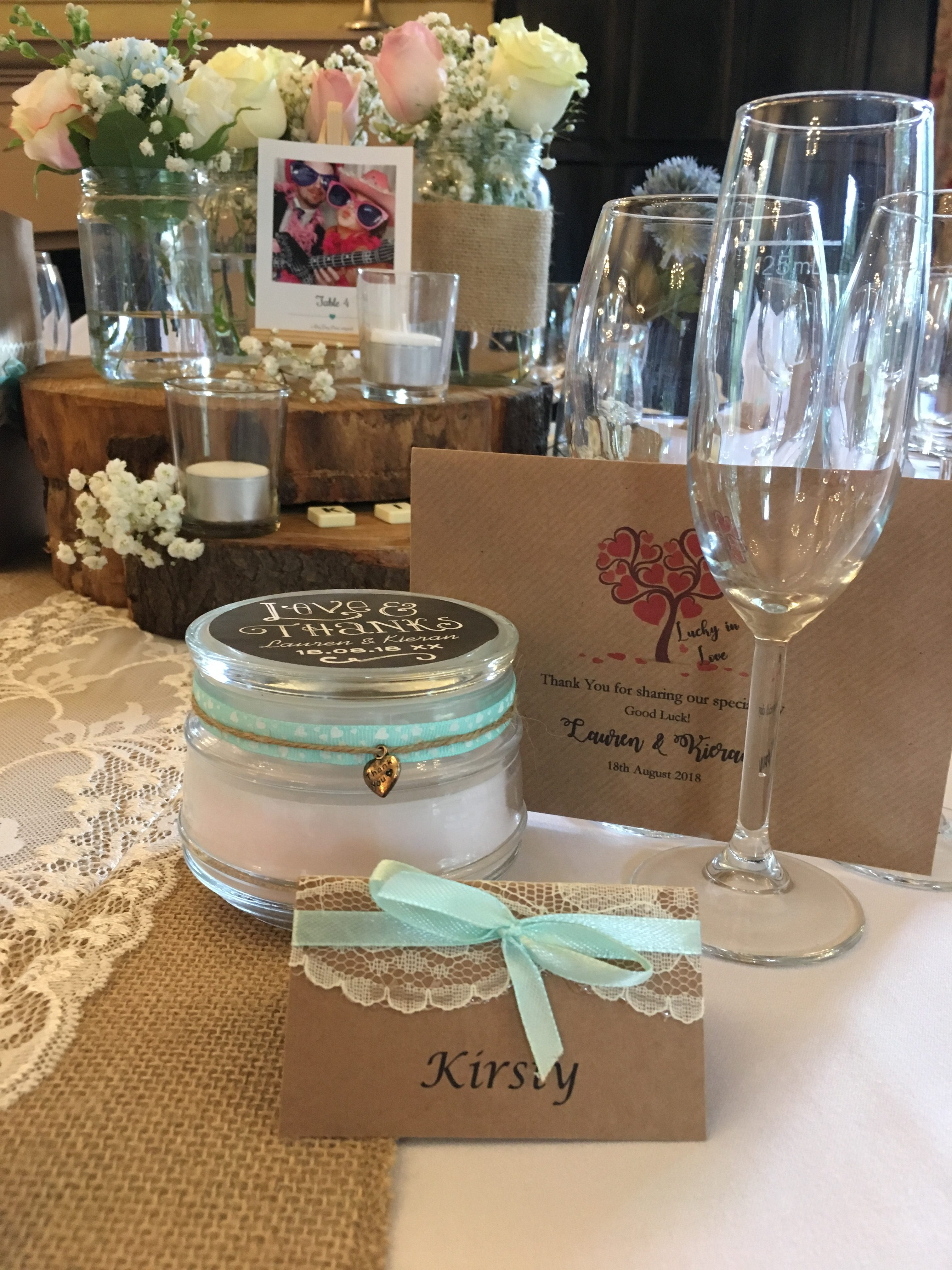 Rustic Candle & Scratch Card Favours Sophia's Final Touch - Venue Styling - Weddings