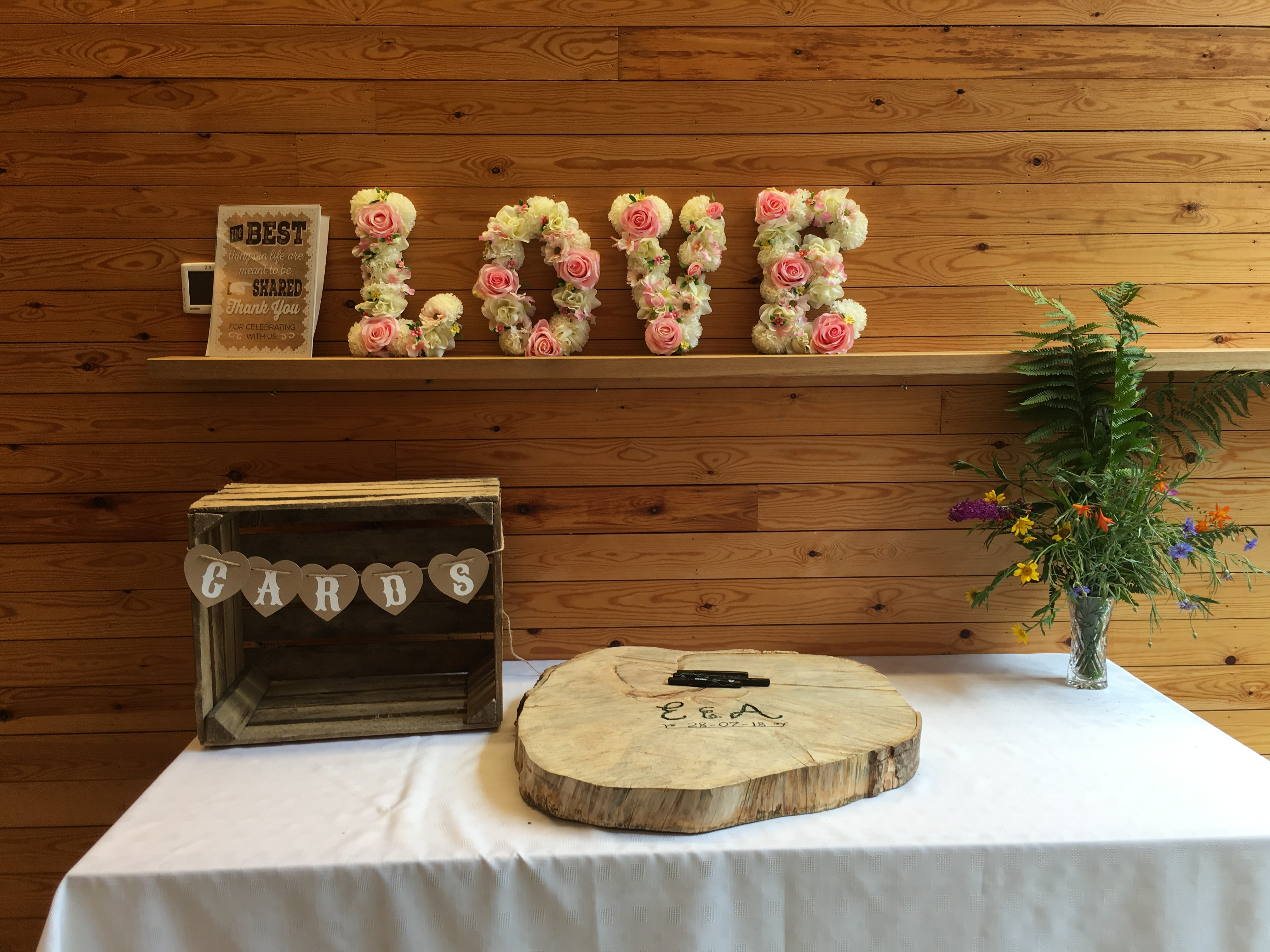 Rustic Crate Post Box - With Flower LOVE Sophia's Final Touch - Venue Styling - Weddings