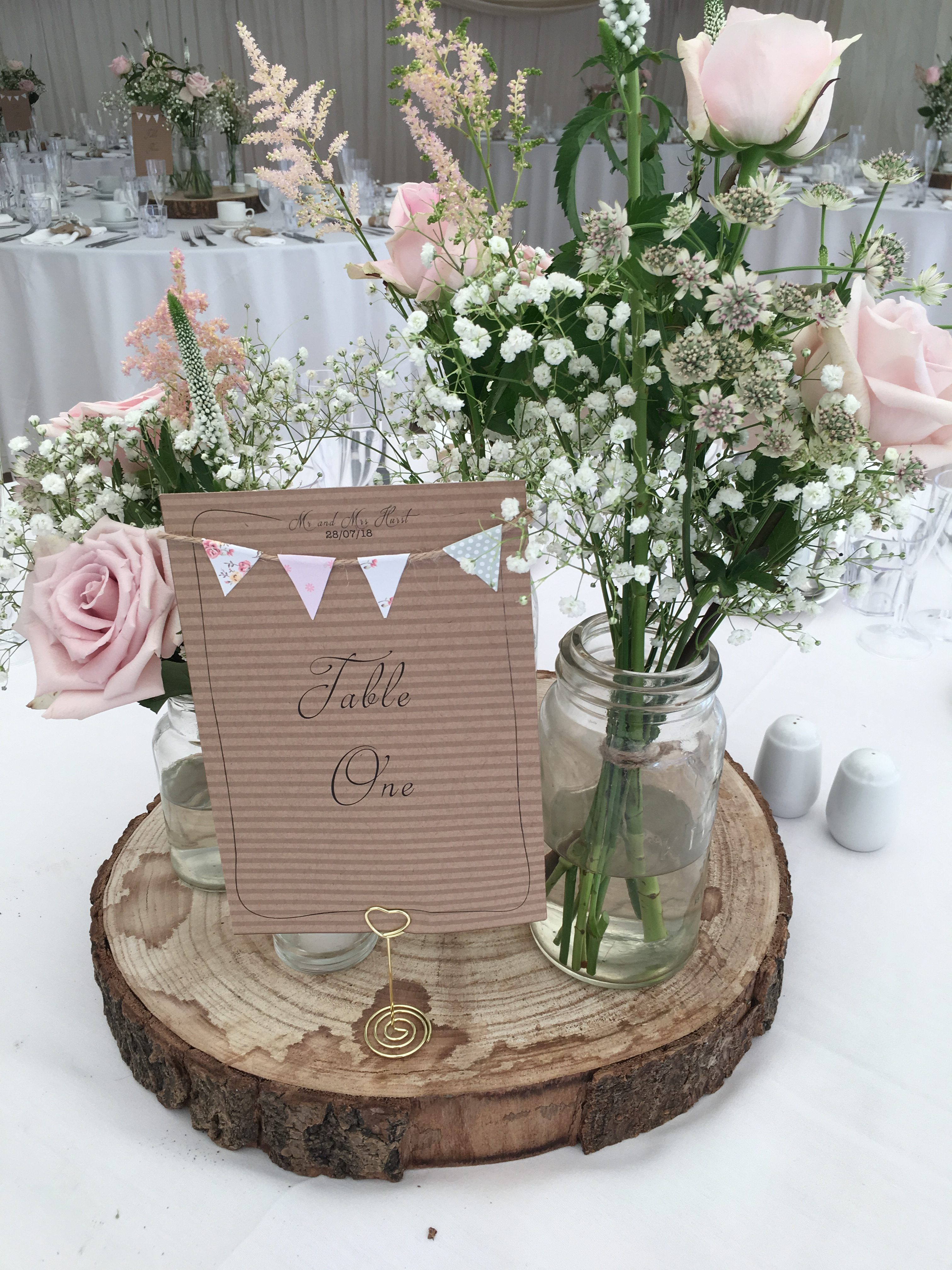 Rustic Table Numbers - My Little Future Sophia's Final Touch - Venue Styling - Weddings s