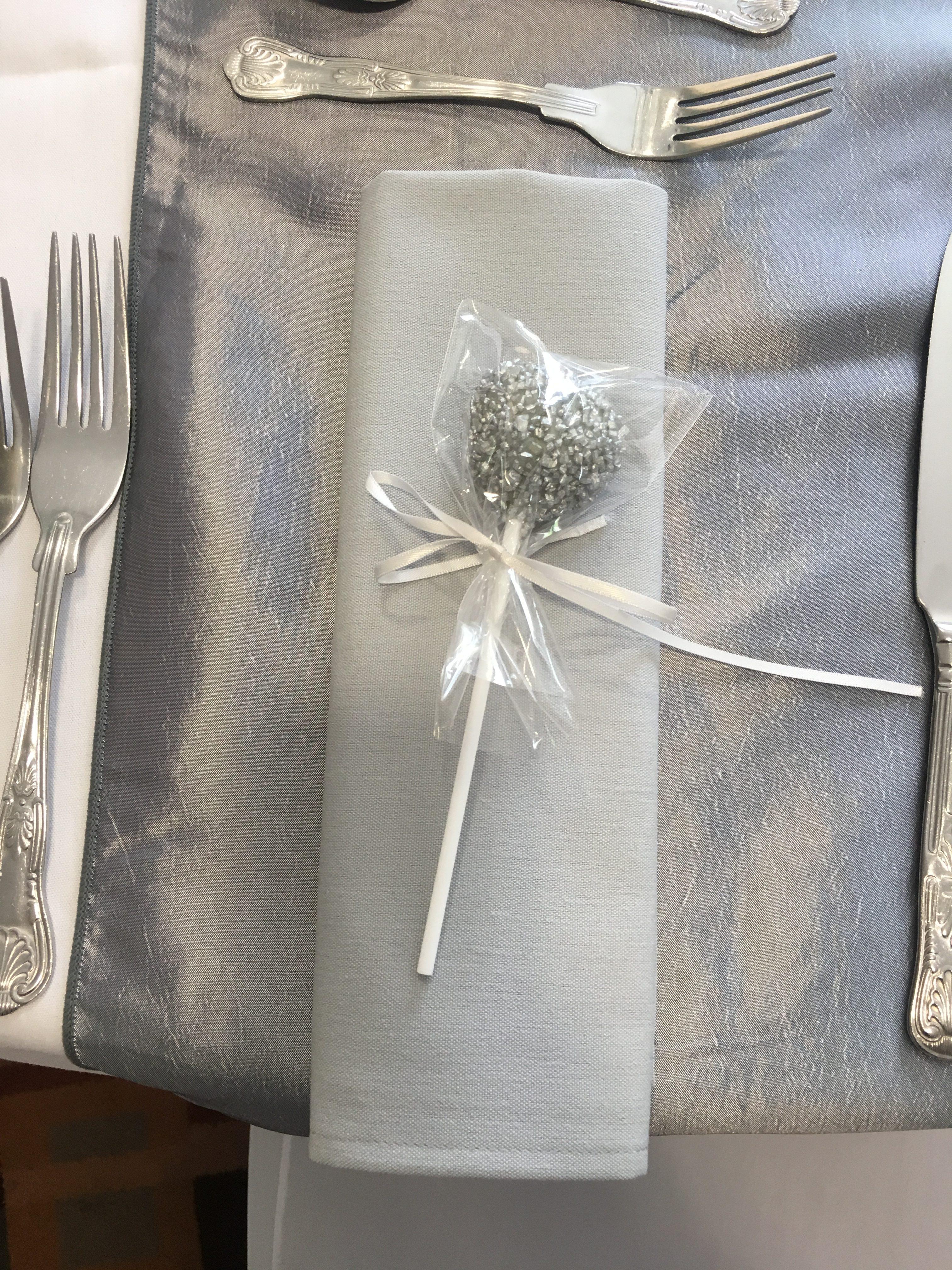 Silver Cake pop Favours Sophia's Final Touch - Venue Styling - Weddings