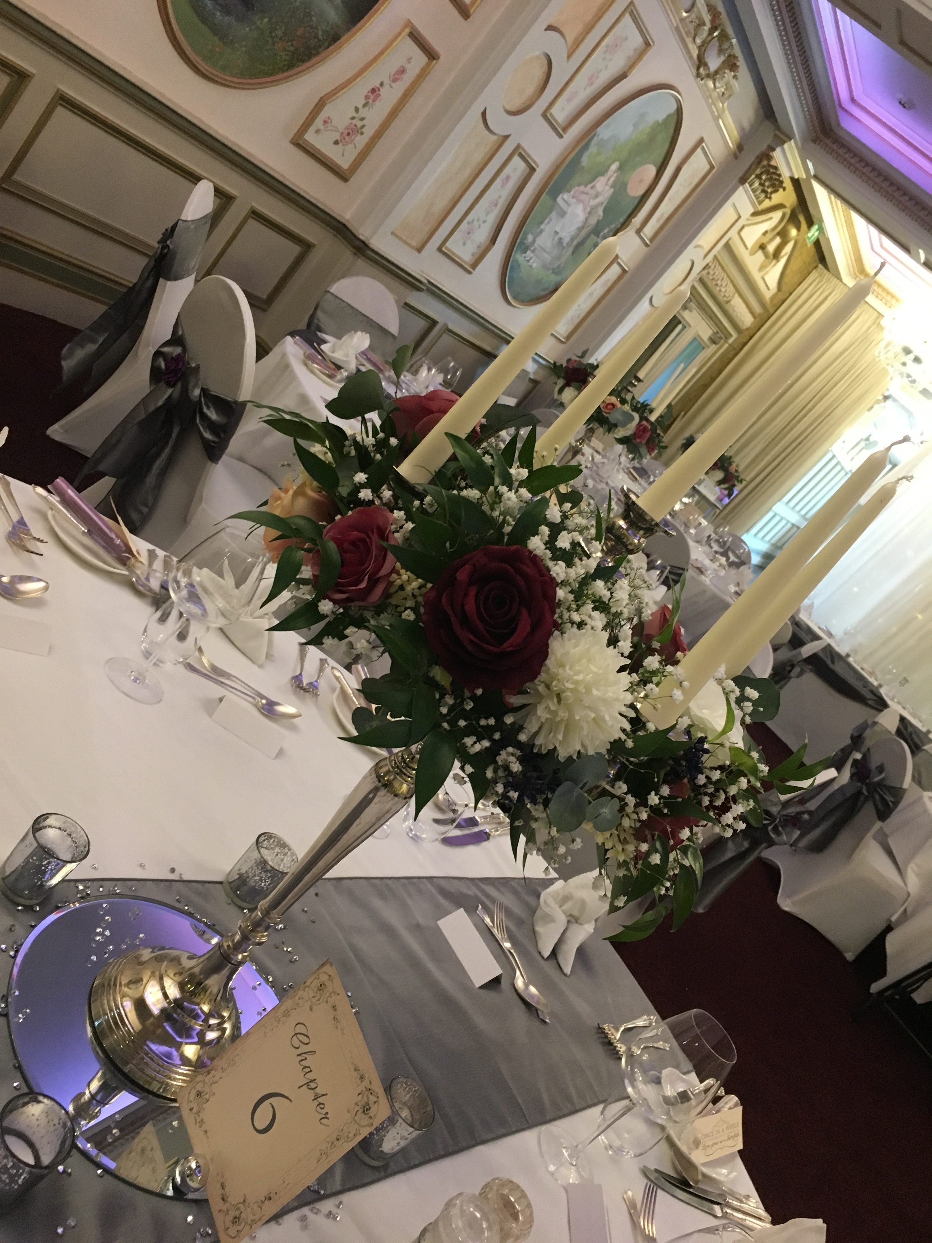 Silver Candelabra with Floral ring Sophia's Final Touch - Venue Styling - Weddings
