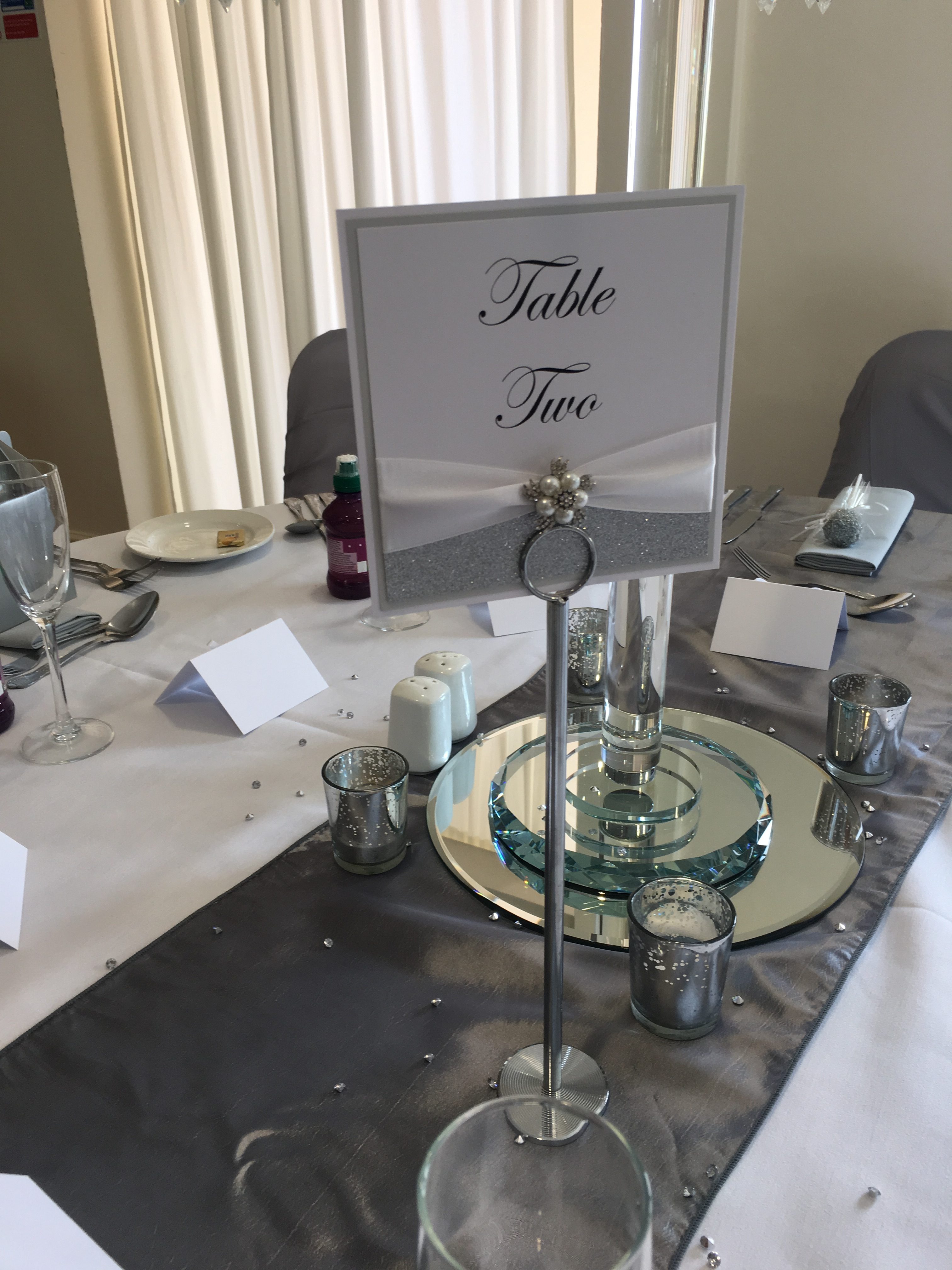 Silver Glitter Table Numbers Sophia's Final Touch - Venue Styling - Weddings