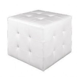 solid-white-faux-leather-cubes